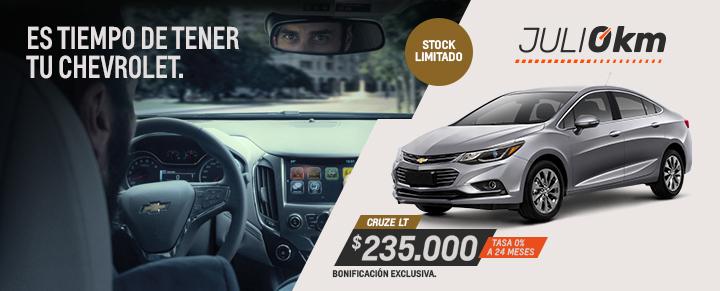 Oportunidad en Chevrolet Cruze - Julio 0km