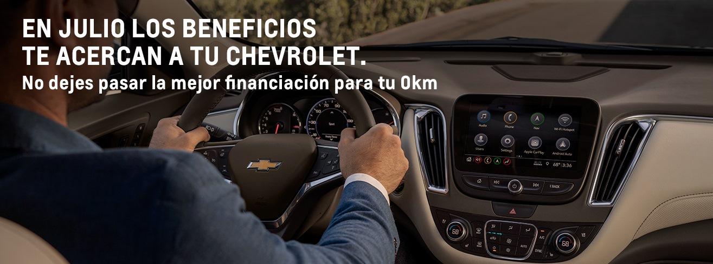 Beneficios del mes de julio en concesionario oficial Chevrolet