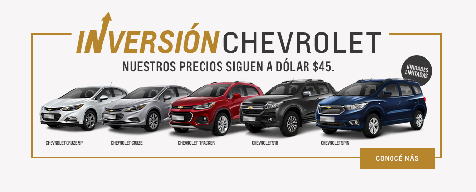 Dolar a $45 en Chevrolet