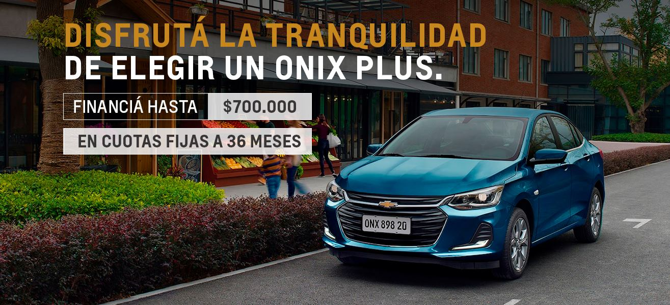 Financiá tu Chevrolet Onix Plus en hasta $700.000