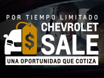 Chevrolet Sale con beneficios imperdibles