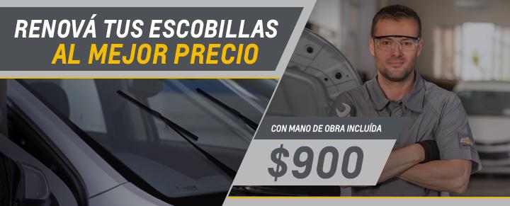 Cambio de escobillas para Agile, Montana, Onix, Prisma, Onix Joy, Prisma Joy, S10, Trailblazer y Cobalt - Repuestos Originales Chevrolet