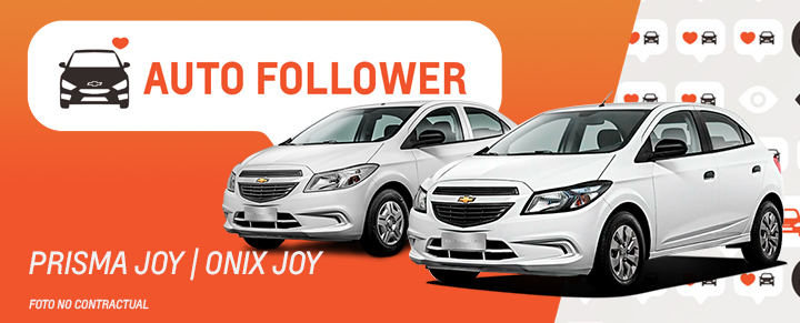 Auto Follower Chevrolet Onix y Prisma