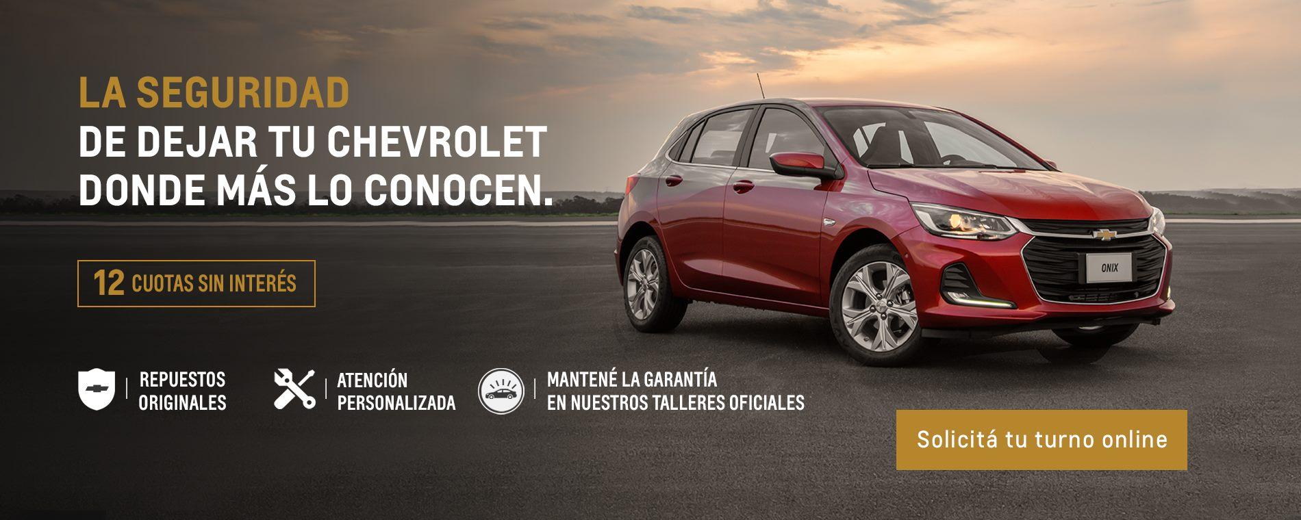 12 cuotas sin interés en Servicio Personalizado Chevrolet en taller oficial