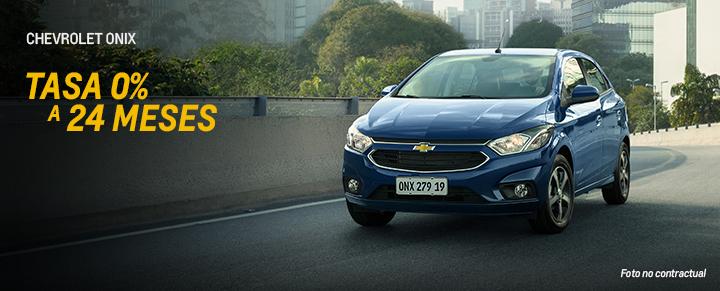 Oportunidad en Chevrolet Onix tasa 0% a 24 meses