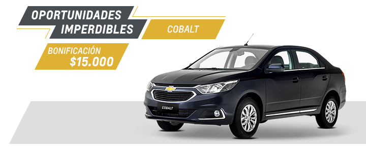 Chevrolet Cobalt - Oferta nacional Septiembre