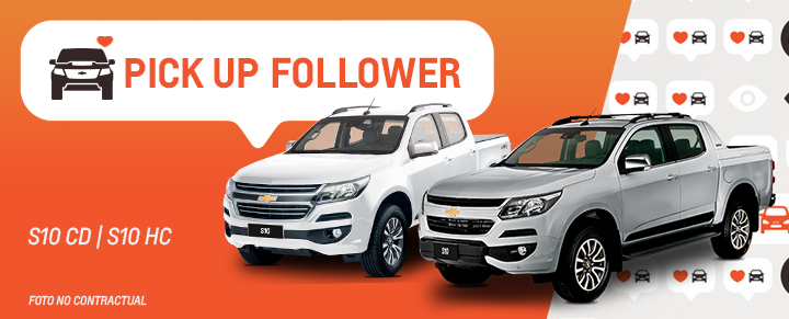 Auto Follower Chevrolet S10 Cabina Doble y High Country