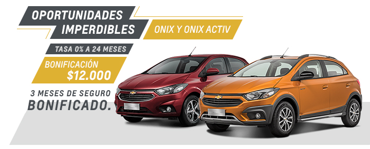 Chevrolet Onix y Onix Activ - Oferta nacional Septiembre