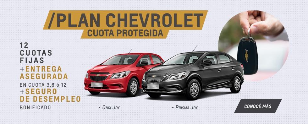 Plan Chevrolet Cuota Proteguida con Entrega Asegurada y Seguro de Desempleo Bonificado