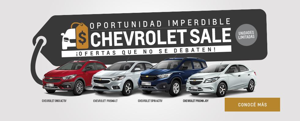Chevrolet Sale con precios bonificados