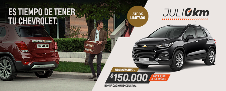 Oportunidad en Chevrolet Tracker - Julio 0km