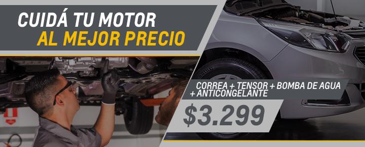 Correa + Tensor + Anticongelante + Bomba de Agua para Agil, Classic, Celta, Onix y Prisma - Repuestos Chevrolet