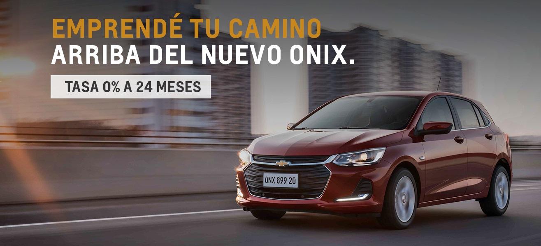 Nuevo Chevrolet Onix con tasa 0% a 24 meses