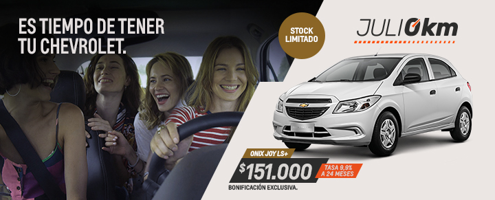 Oportunidad en Chevrolet Onix Joy - Julio 0km