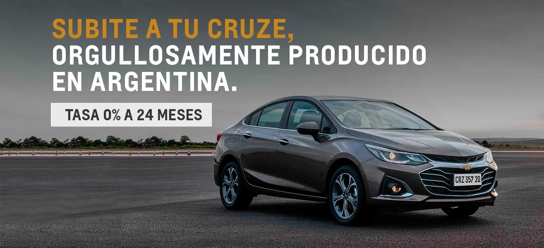 Chevrolet Cruze con Tasa 0& a 24 meses
