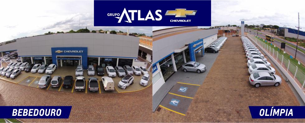 Fachadas concessionárias Chevrolet Atlas. Conhecer história, onde estamos e contato.