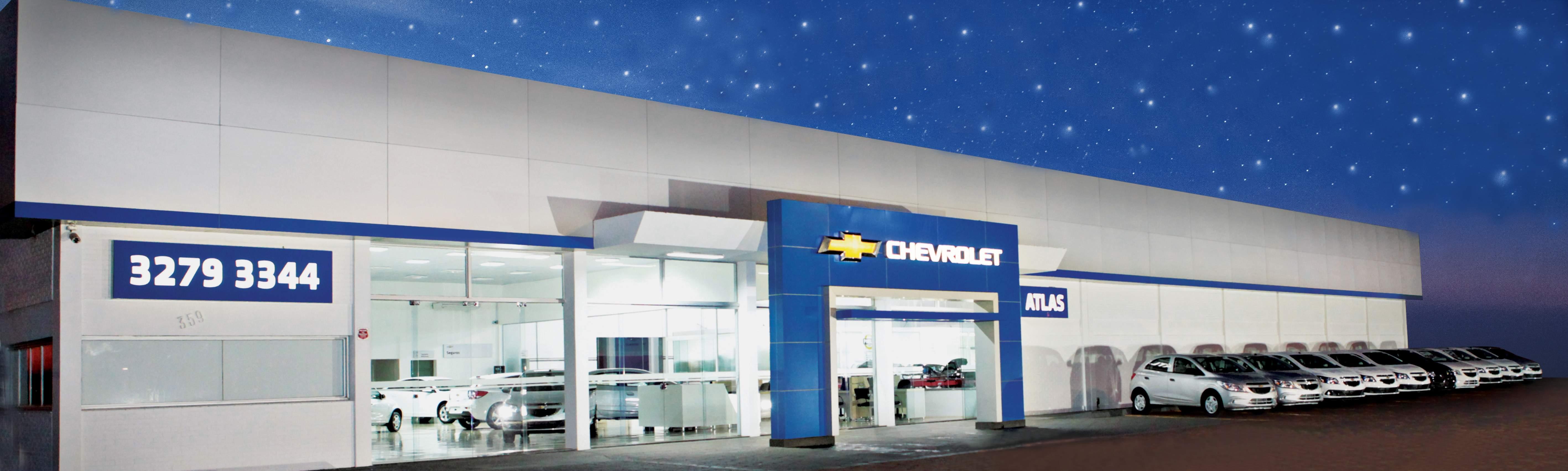Fachada concessionária Chevrolet Atlas
