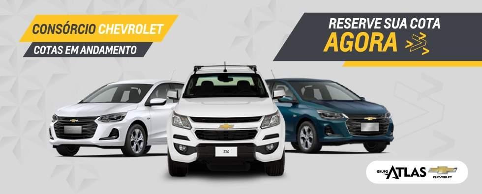 Comprar carros por consórcio na concessionária Grupo Atlas Chevrolet