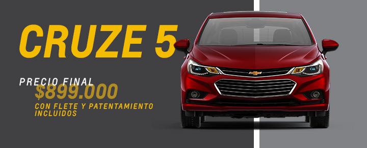 Precio exclusivo en Chevrolet Cruze 5 en Tucuman y Santiago del Estero