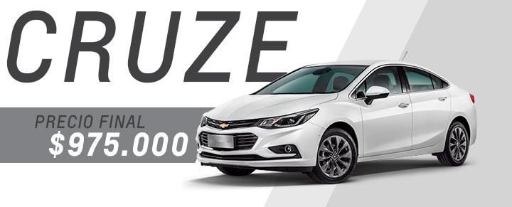 Precio exclusivo en Chevrolet Cruze en Tucuman y Santiago del Estero