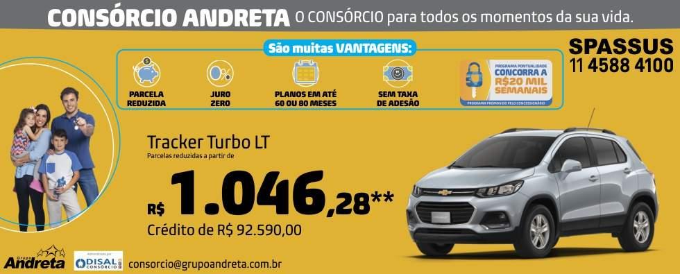 Comprar Chevrolet Tracker Turbo LT com o Consórcio de carros Andreta da concessionária Spassus