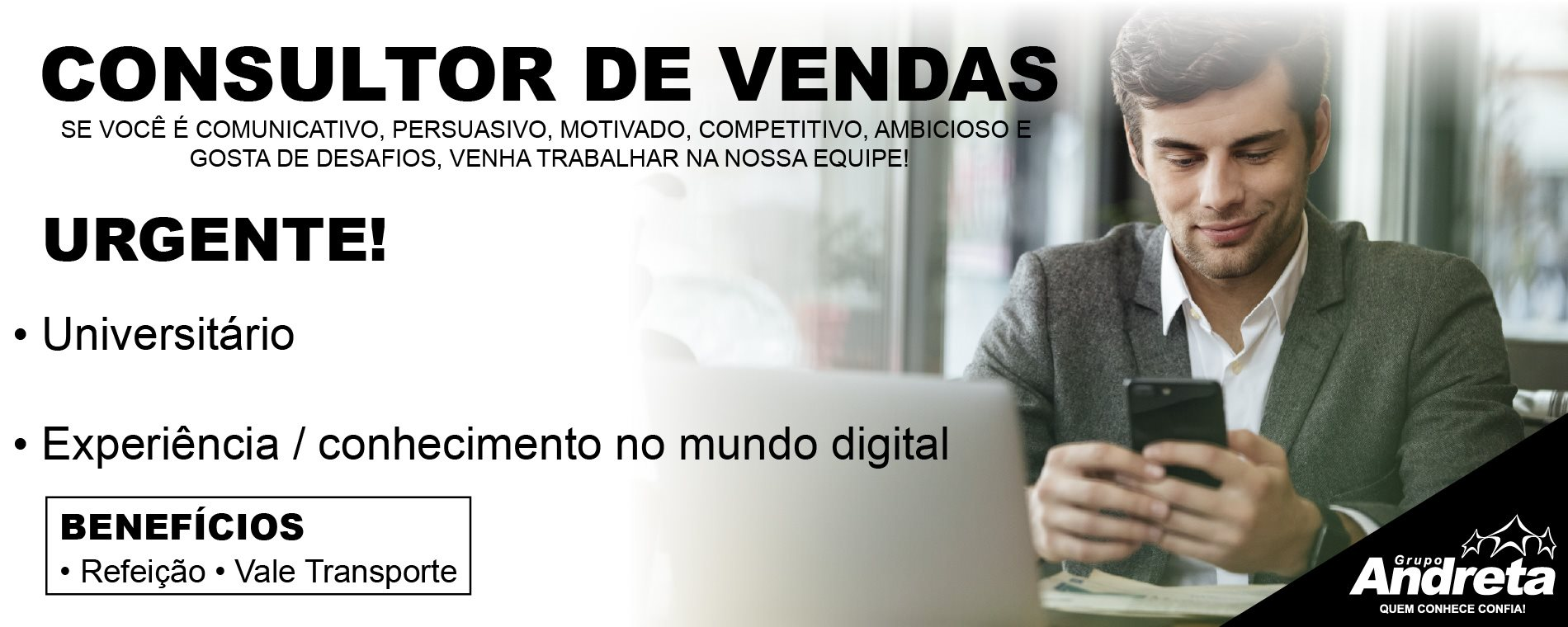 Grupo Andreta - Digitais Vaga Consultor (Home GM)