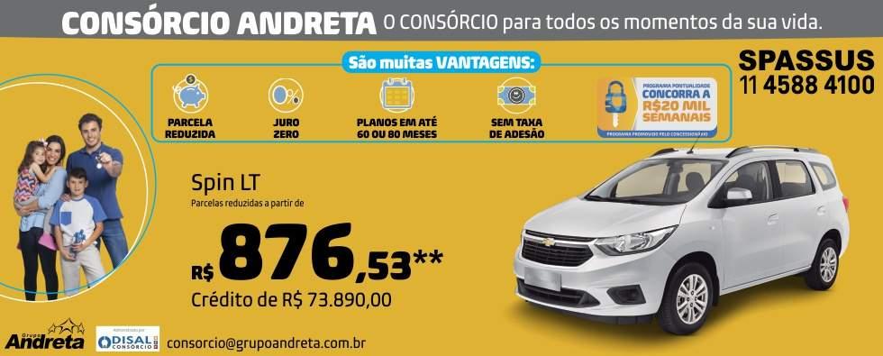 Comprar Chevrolet Spin LT com o Consórcio de carros Andreta da concessionária Spassus