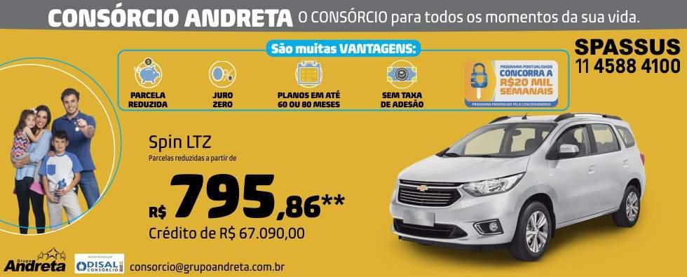 Comprar Chevrolet Spin LTZ com o Consórcio de carros Andreta da concessionária Spassus
