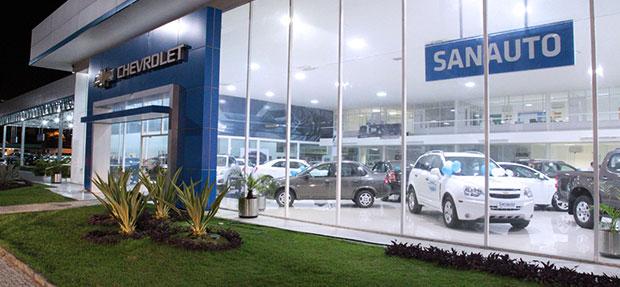 Fachada concessionária Chevrolet Sanauto
