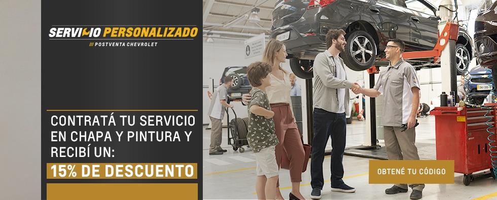 Código de descuento para Servicios Chevrolet en Río Grande y Ushuaia