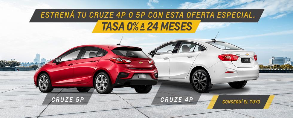 Oferta de Chevrolet Cruze 4 y 5 en Del Sur Autos
