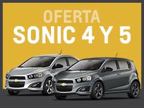 Oferta Chevrolet Sonic en Del Sur Autos