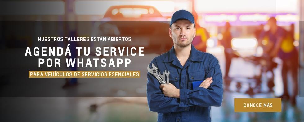 Agendamiento de service Chevrolet por WhatsApp en Talleres Oficiales Del Sur