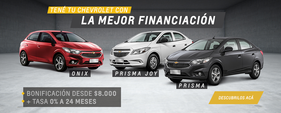 Oferta de Chevrolet Prisma y Onix en Del Sur Autos