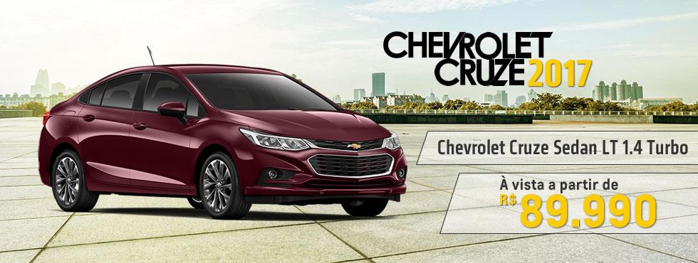 Novo Chevrolet Cruze 2017 a partir de 89.990,00 é na Metrosul