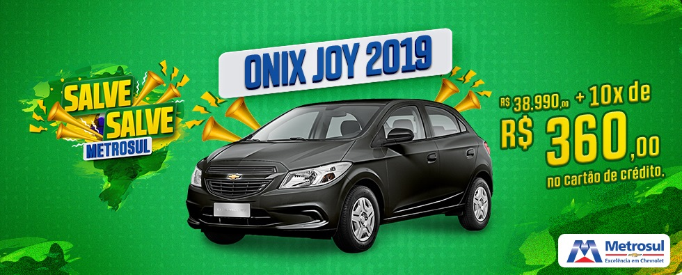 onix joy 2019 curitiba metrosul chevrolet