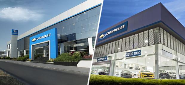 Fachada concessionária Chevrolet Metrosul