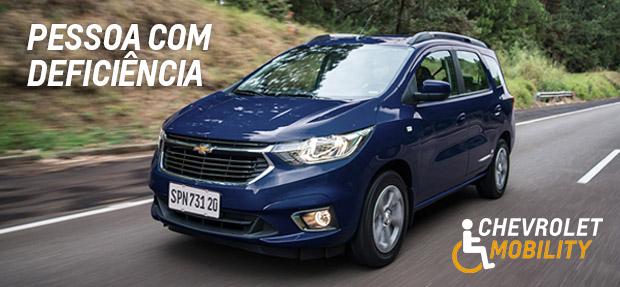 Chevrolet Mobility com condições especiais na compra de carros para PcD