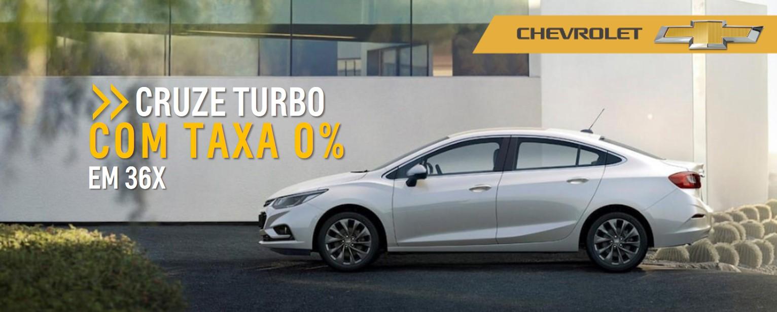 Feirao de Fabrica Chevrolet - CRUZE TURBO com TAXA 0%