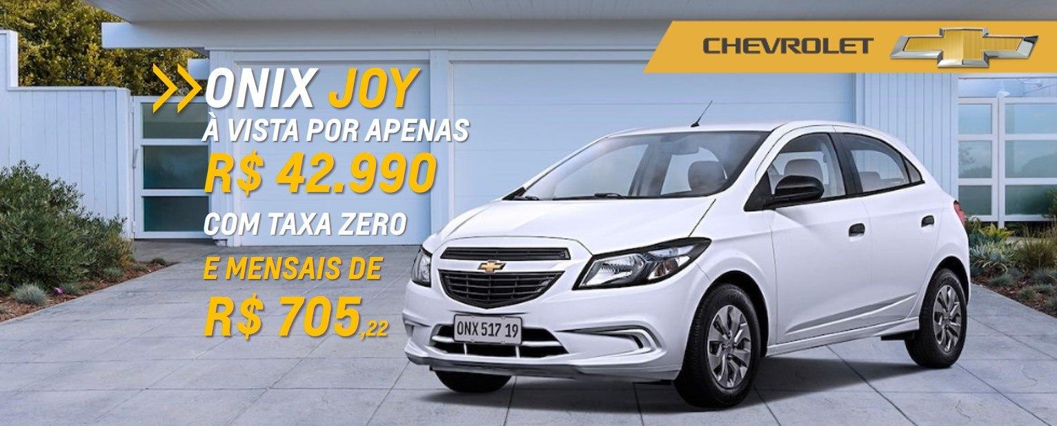 Ofertas Chevrolet - Onix-Joy com TAXA ZERO e parcelas que cabem no seu bolso