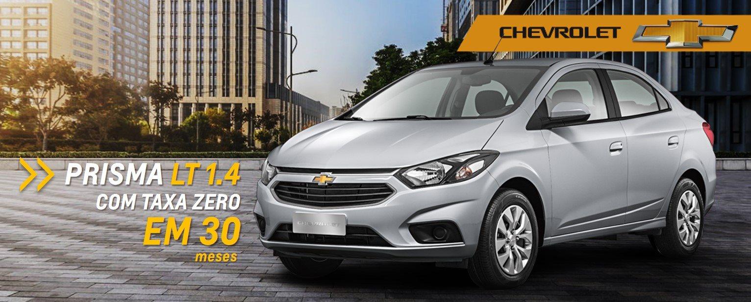 Ofertas Chevrolet - Novo-Prisma LT com TAXA ZERO em trinta meses