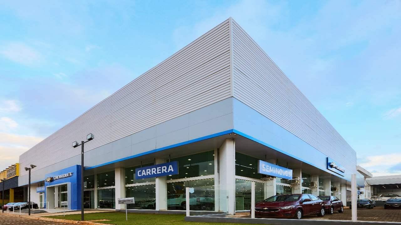 Fachada da concessionária Chevrolet Carrera Brasília. Conheça a história, onde estamos e entre em contato.