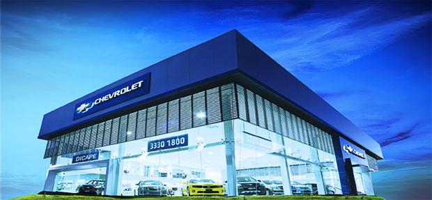 Fachada concessionária Chevrolet Dicape Curitiba