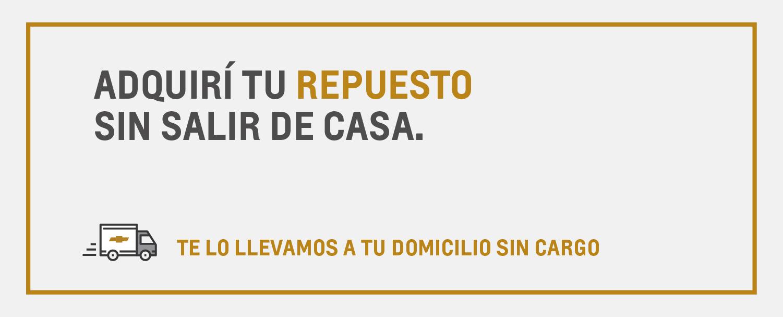 Envío gratis de repuestos originales Chevrolet en Santa Fe y Paraná