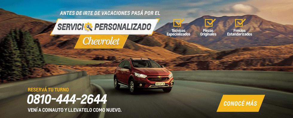 Servicio Personalizado Chevrolet Pre vacacional en Coinauto