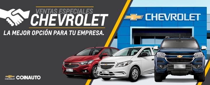 Chevrolet Ventas Especiales en Coinauto