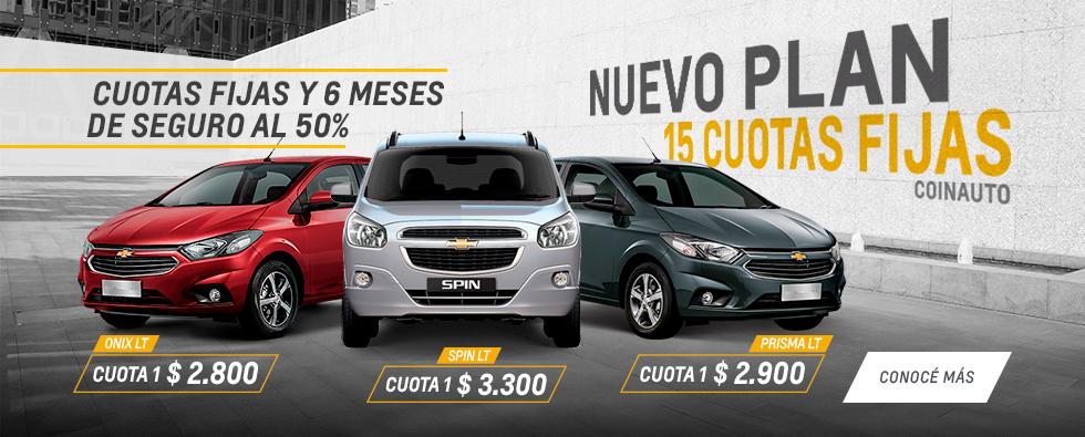 Plan Chevrolet 15 Cuotas en Coinauto