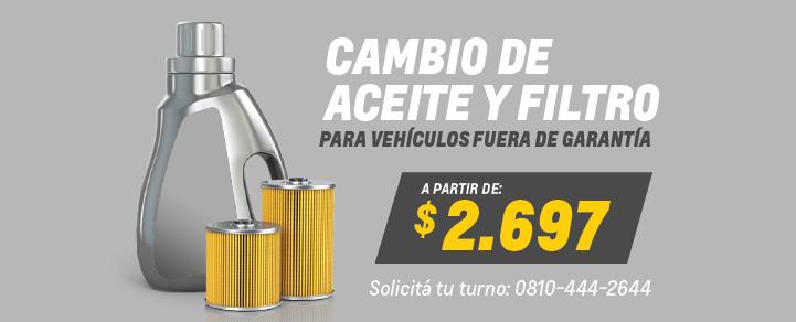 Banner oferta cambio de Aceite y Filtro