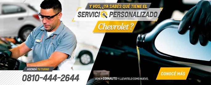 Servicio Personalizado Chevrolet en Coinauto
