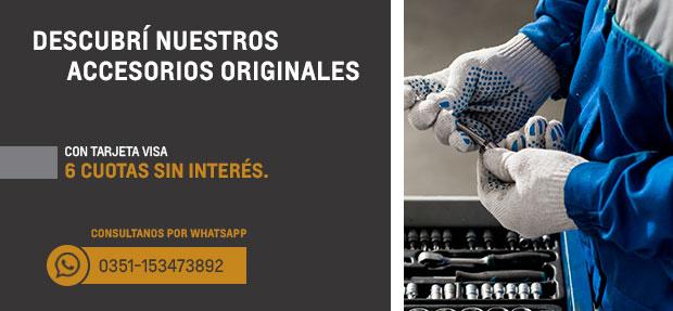 Accesorios Originales Chevrolet en 6 cuotas con Visa en Córdoba